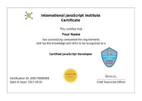 JavaScript Certification